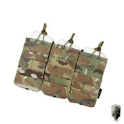 Tmc Tactical Triple Molle 5.56mm Mag Pouch Open Mag Carrier Modular Hunting Gear