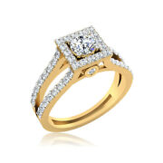 0.80ct Round Real Solitaire Wedding Diamond Rings 14k Yellow Gold Size H I J