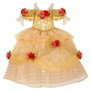 New Disney Princess Belle Limited Edition Exclusive Gold Dress Costume Xs 4