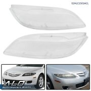 Front Left And Right Headlight Lens Cover Replacement Clear For 2003-2008 Mazda 6