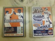 Pocket Schedule - Mets - 2007 And 2008 - Citi Fs
