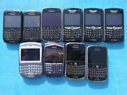 Blackberry Lot 7290 8520 8700g 8800 9000 9360 9900 - For Parts Or Repair As Is