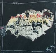 Gilles Rieu B.1953 5 To 7 Abstract Expressionist Mixed Media Graffiti 2002 Oil