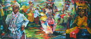 Jouigwome 1994 Dr Congo Africa Carnival Magic Realism Motion Expressionist Huge