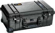 Peli Waterproof Equipment Case W/wheels 230x555x350mm Lockable Plastic Black