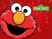 Elmo Sesame Street Personalised Birthday Party Banner Backdrop Background