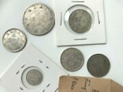 6 Antique Chinese Silver Coins