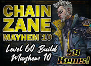 [ps4] Borderlands 3 ⚡ Lv 60 Chain Zane ⚡ M10 Build - Choose Your Items Cryo