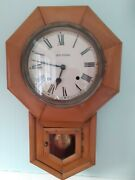 Antique Seth Thomas Wooden Wall Clock- With Striking Movement Bell