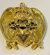 Brand New-sought After-st.michael Skull-police Challenge Coin
