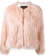 New Nwot Coach Pink Faux Fur Fluff Cropped Coat Jacket 795 Medium M Sold Out