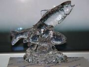 24 Lead Crystal 2 Trout Fish Figurine New Collectible Princess House 6540