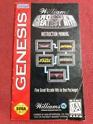 Williams Arcadeand039s Greatest Hits Genesis Instruction Manual Booklet No Sega Game