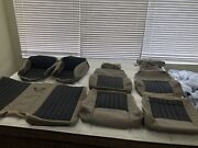 1997-02 Pontiac Trans Am Neutral Tan With Black Leather Seat Covers W/ws6 Logos