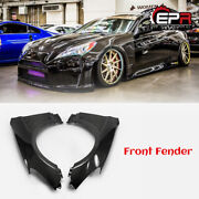 For 09-16 Hyundai Genesis Rohens Coupe Carbon Fiber Vented Front Fender Body Kit