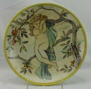 Wedgwood No England D 1875 Repaired Woman Nude In Tree Cherries Repaired