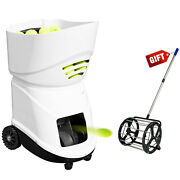 Portable Tennis Ball Machine W/ App Multi-function And 55 Balls Picker Collector