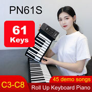 61 Key Electronic Roll Up Piano Keyboard Soft Silicone Flexible Portable Music