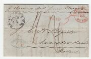 Pre Stamp Letter From Us To Holland Via New York And London Re Gin Shipment-1860