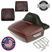 Stiletto Red King Tour Pak Pack For Harley Street Road Electra Glide 97+