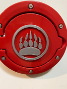 Bear Tribal Claw In 3d Red With Red For Jeep Wrangler Jk/jku Flag Gas Cap Cover