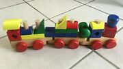 Melissa And Doug Stacking Train Set Classic Wooden Blocks Toy Set Complete 18pcs