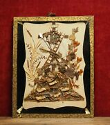 Free Shipping Antique Reliquary Convent Nun's Work Veronica's Veil