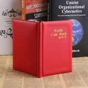 120 Pockets Coin Album Holders 10 Pages For Coins Collector Collection Book Red