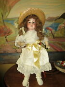 Large Antique Bisque/leather Doll Marked Armand 9 Marseille -rosebud 27