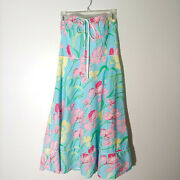 Lilly Pulitzer Iris Floral Strapless Convertible Halter Tie Dress Sz 10 Lined
