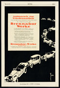 Antique Print-advertising-brennabor-cars-lanz-agriculture-tractor-germany-1919