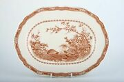 Furnivals - Quail - Brown - Oval Plate / Platter - 140773y