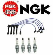 For Set Of Spark Plug Wire Set And Spark Plugs For Nissan 240sx Altima