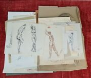 Female Nudes. 43 Academic Drawings. Cake And Ink. Circa 1980.