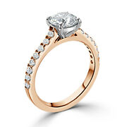 0.98ct Real Diamond Anniversary Ring Round Cut 14k Solitaire Yellow Gold 4 7 8