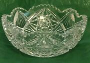 Antique Deep Cut Glass Bowl Made By T.b. Clark And Co. C. 1900