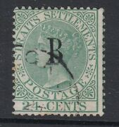 British Post Offices In Siam Bangkok Sg9a - 24c Green - Fine Used - Cat £1500