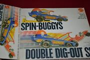 Vintage Mattel Toys 1971 Spin-buggys Double Dig-out Set Mib Nos Never Used Rare