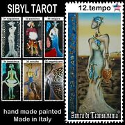 Sibyl Tarot Cards Deck Fortune Telling Guide Book Vintage Rare Wicca Oracle Set
