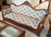 Beautiful Rare Antique Sofa Parlor Couch Professionally Reupholstered Excellent