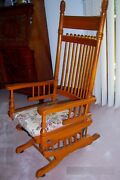 Beautiful Antique Jefferson Rocking / Gliderstyle Chair Excellent Rare