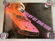 Original Vintage 1969 Shelby Autosport Mustang Gt-350/500 Showroom Poster Exc
