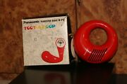Panasonic Toot-a-loop Am Radio W/ Box And Papers Red R-72 National Mcm