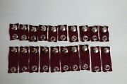 10 1 And 10 2 Maroon Boat Cover Extension Snaps Combination Pack