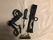 Acua Lung Us Diver Dive Knife Trident Dive Scissors And Multi Tool