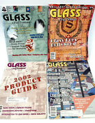 Lot Of 4 Glass Craftsman Magazines 2001-2004 Patterns Tips Stained Fused Hints
