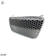 Fit For 07-12 R8 Gen1 Car Grill Grille Front Euro Hex Style [and039gunmetal/silver]