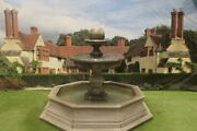 Large Regis Ball Fountain In Small Frontier Pool Surround Stone Water Feature