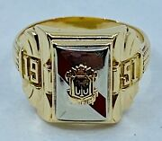 Mens 7.44 Grams 10kt Yellow Gold Class Ring 1951 Cts Size 10