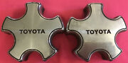 2 Toyota Camry Chrome Wheel Center Hub Caps Covers Hubcaps Vintage 69226 1987-91
